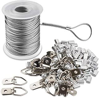 comprar comparacion Marco de Imagen Juego de Cables Colgantes Bobina de Alambre Revestida de Vinilo de Acero Inoxidable Trenzado de 1,5 Mm x 1...