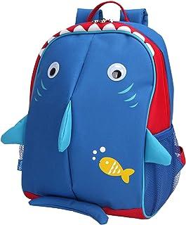 (Shark-Safer Reflective Fins) - Yodo Little Kids School Bag Pre-K Toddler Backpack - Name Tag and Chest Strap