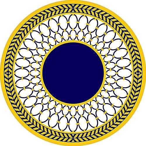 FIOFE Computer-Kissen, h ende Korb-Pad, einfache Mode-Teppich, Bekleidungsgesch , um einen runden Teppich zu nehmen (Farbe   Blau Gelb, Größe   16cm)