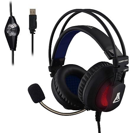 THE G-LAB - KORP 400 - Auriculares Gaming de Alto Rendimiento - Tecnología 7.1 Surround Sound - Retroiluminación RGB - Vibraciones - Compatible con ...