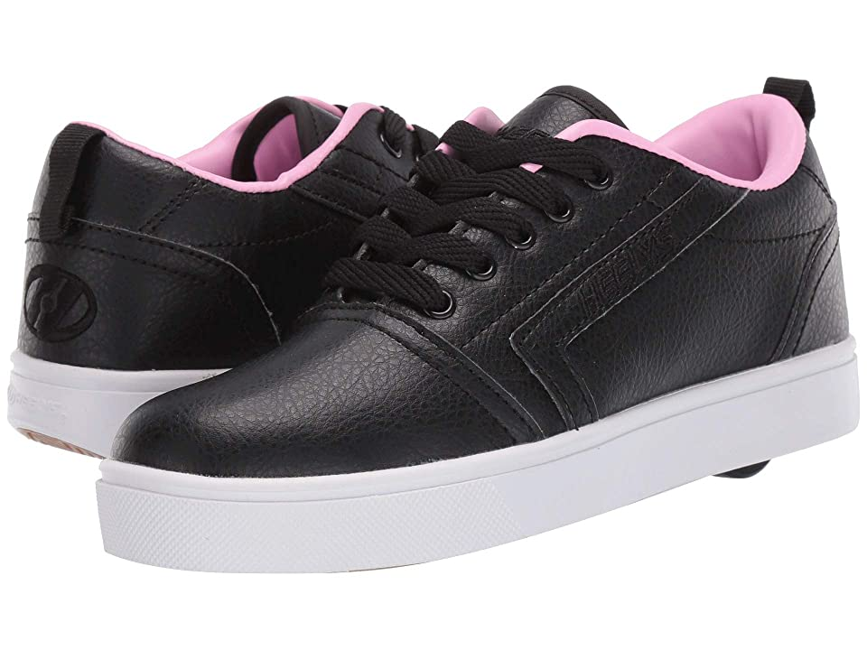 Heelys GR8 Pro (Little Kid/Big Kid/Adult) (Black/Light Pink) Girls Shoes