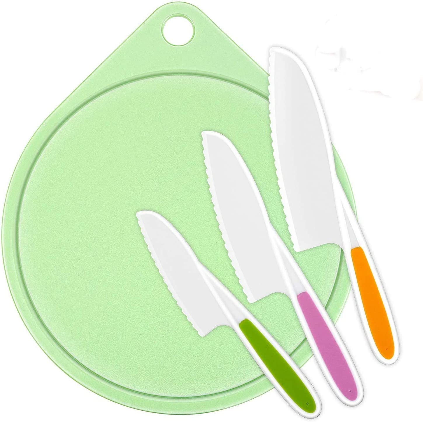 LEEFE kids Cooking Supplies Knife Cutting 3-Piece and Great Spring new work one after another interest Fi Board