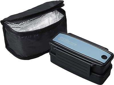 OSK 弁当箱 ライトブルー 上/400ml、下/460ml メタルモードノーム ランチボックス2段保冷バッグ付き BLW-18HSF