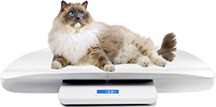 Multi-Function Digital Pet Scale to Measure Dog and Cat Weight Accurately Up to 220 Lbs, Precision at ± 10g, Blue Backlight, Especially for Pregnant Cats and Baby Pets (60 cm)