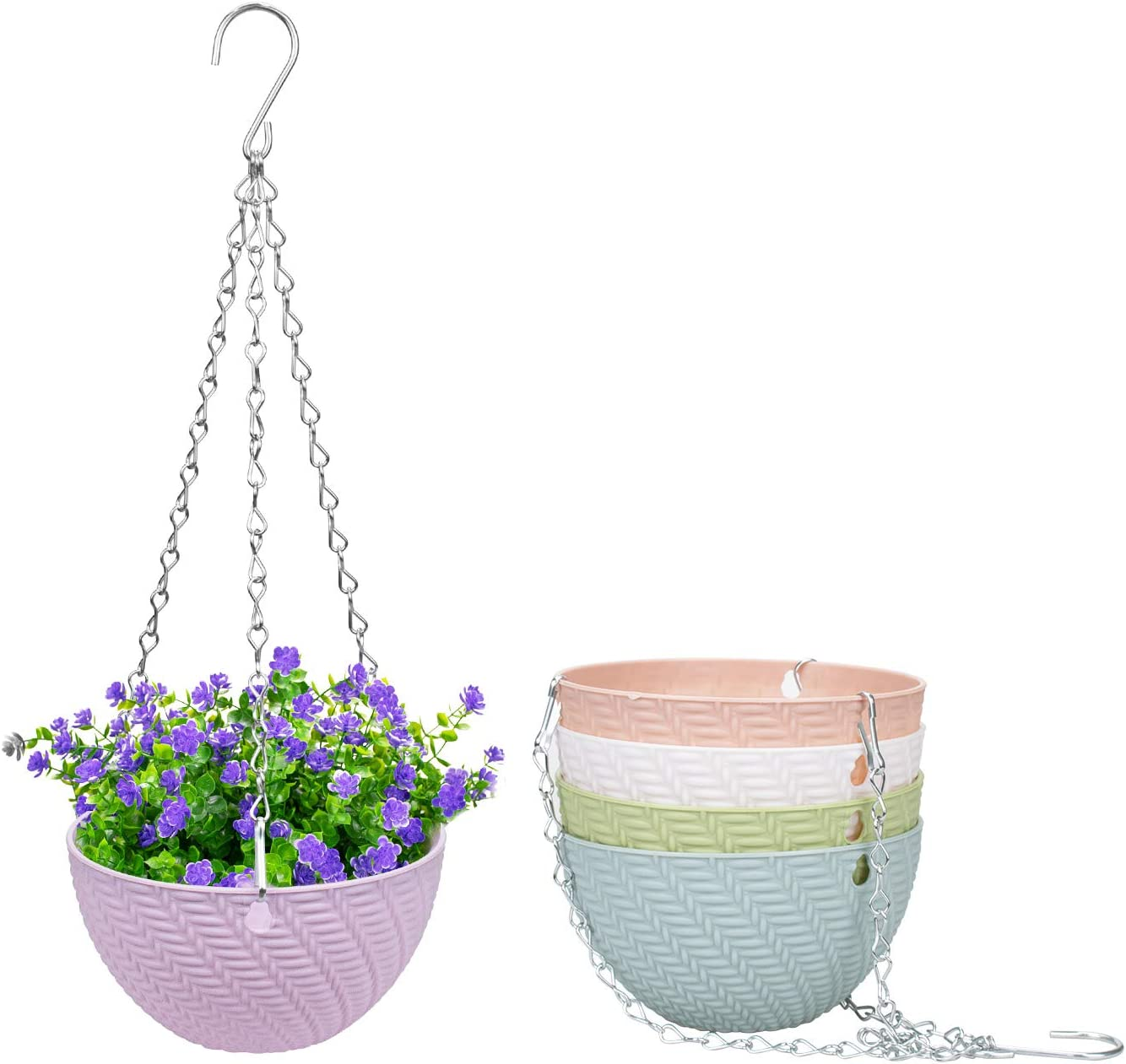 4 years warranty Foraineam 5 Pack Max 59% OFF Mini Hanging Planters Flow Self-Watering Garden