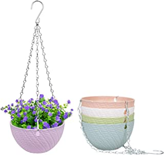 Foraineam 5 Pack Mini Hanging Planters Garden Self-Watering Flower Plant Pot Container Succulent Planter Pots with Hanging...