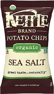 Kettle Brand Organic Potato Chips, Sea Salt, 5-Ounce Bags (Pack of 15)