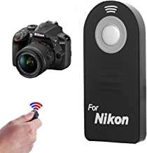 IR Wireless Shutter Release Remote ML-L3 Compatible with Nikon D5300, D3200, D5100, D7000, D600, D610, P7000, P7100, J1, V1, AW1 D40, D40X, D50, D60, D70, D70S, D80, D90, D3 Digital SLRS