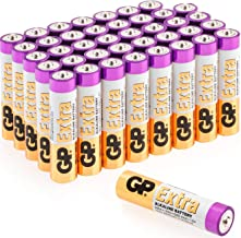AAA Batteries Pack of 40 1.5V / Micro/Mini/Penlite / LR03 by GP Batteries Extra Alkaline Batteries Suitable for everyday use in a variety of devices - Clocks/Remotes/Mouse/Torch/Etc …