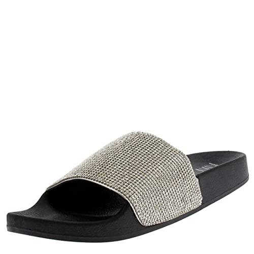 a8ee85d274c Viva Womens Diamante Fashion Platform Sliders Slip On Mules Summer Shoe  Sandals