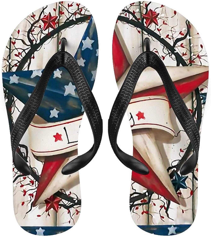 Men Flip Flop Sandal Vintage Liberty US Max 53% Japan's largest assortment OFF Flag Flip-Flops Starfish