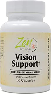 Vision Support - Best Eye Health & Vision Vitamins with Lutein, Bilberry, Eyebright & Carotenoids Powerful Supplement for ...