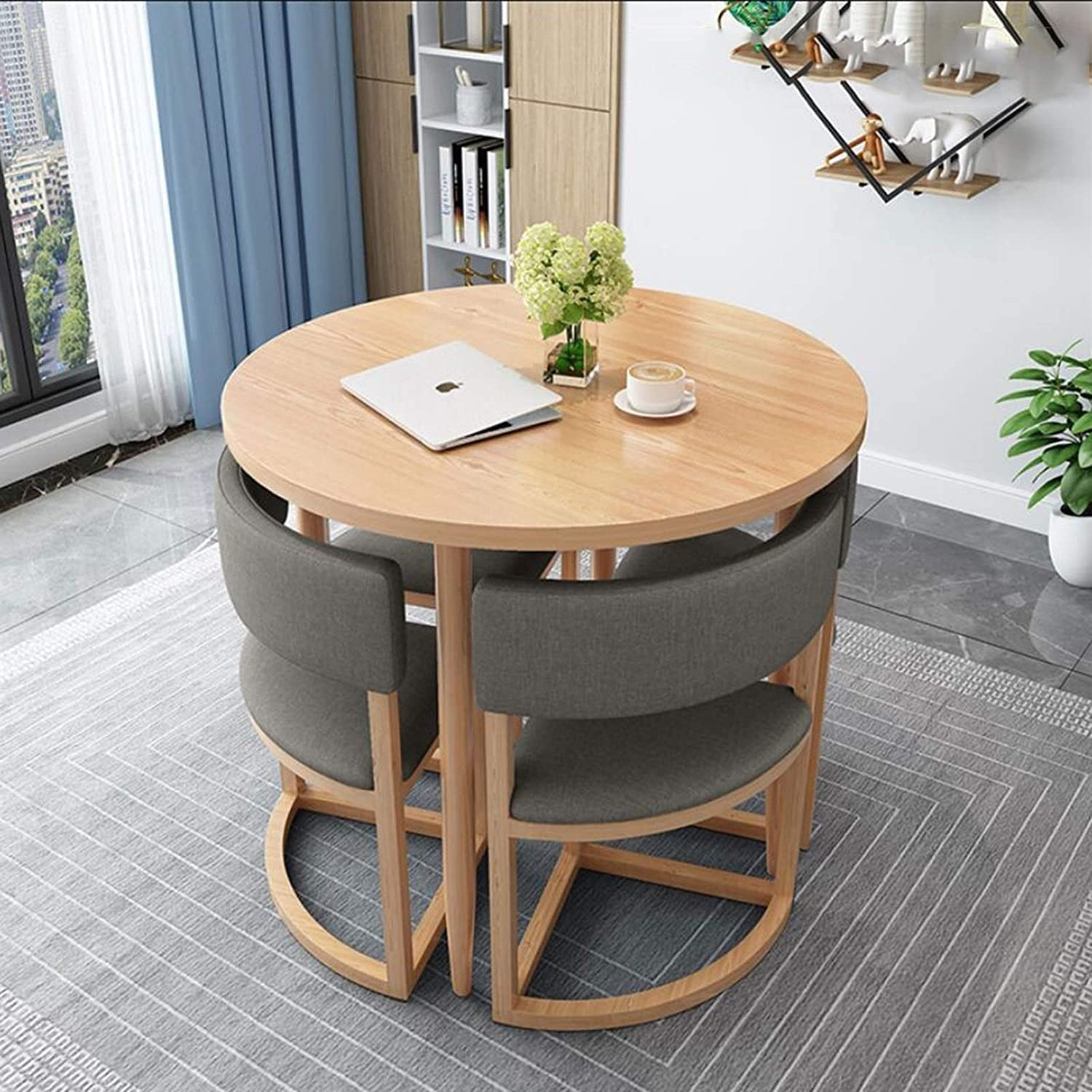 ZLSP Negotiating 5-Piece Max 63% OFF Modern Round Table Home Choice Chair Combinati