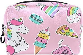 Cosmetische tas make-up tas reizen cosmetische zakje clutch portemonnee toilettas pastel eenhoorns en desserts