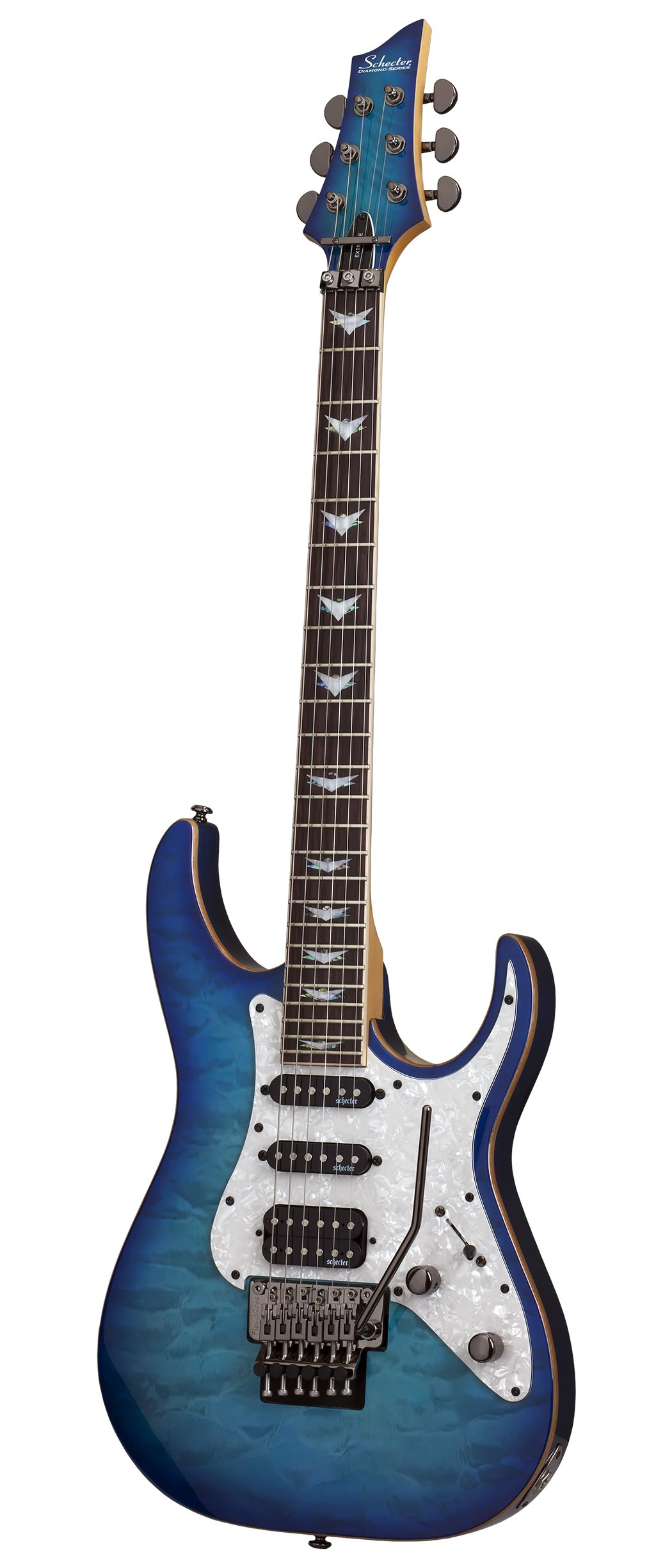 Cheap Schecter 6 String Solid-Body Electric Guitar Ocean Blue Burst (1994) Black Friday & Cyber Monday 2019