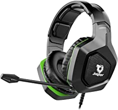 $26 » Soulion Tracer 20 Gaming Headset for PS4 Xbox One PC- Over Ear Headphones with Noise Cancelling Microphone, Surround Sound, Breathable Soft Ear Pads- Nintendo Switch and Mobile Compatible