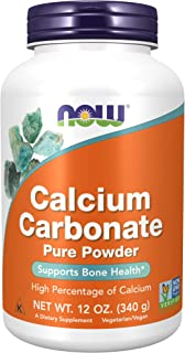 NOW Supplements, Calcium Carbonate Powder, High Percentage of Calcium, Supports Bone Health*, 12-Ounce