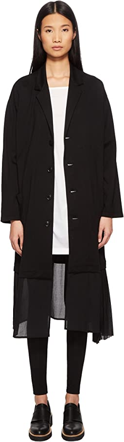 O-Pleats LJK Pleated Trim Button Up Jacket
