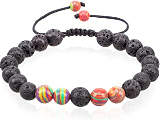VLAWISE Anxiety Essential Oil Diffuser Bracelets for Depression-Stress Relief with Lava Stone,Aromatherapy,Healing Holistic Jewelry