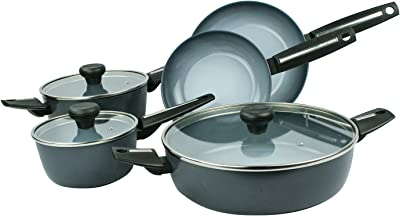 Moneta 12398W Azul Gres 8-Piece Cookware Set