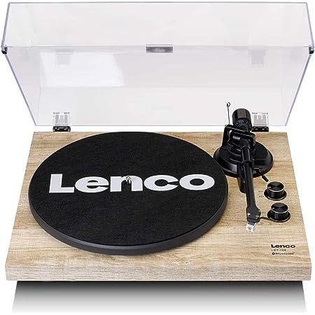 Lenco LBT-188 Tourne-Disque Bluetooth avec Courroie USB et préampli Marron
