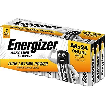 Energizer Pilas AA, pilas alcalinas de potencia doble A, 24 unidades