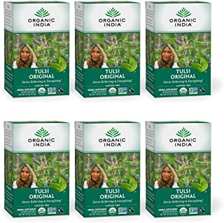 Sponsored Ad - Organic India Tulsi Original Herbal Tea - Stress Relieving & Energizing, Immune Support, Adaptogen, Vegan, ...