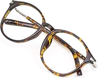 Blue Light Blocking Glasses for Women/Men, Anti Eyestrain, Computer Reading, TV Glasses, Stylish Oval Frame, Anti UV, Anti...