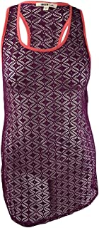 Miken Juniors Crochet Racerback Tank Top Swimwear Cover up