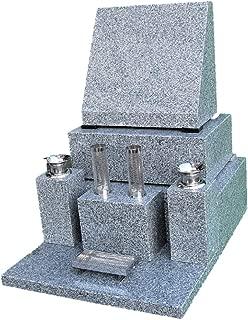 青御影石 【洋型】石碑 一式(文字彫入 運送 据え付け ステンレス備品,納骨所等全てを含む)
