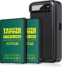 LG V20 Battery, [Upgraded] TAYUZH 2X 4200mAh Replacement Li-Polymer Battery BL-44E1F with Spare Charger for LG V20 H910 H918 LS997 US996 VS995 | V20 Spare Battery [24 Month Warranty]