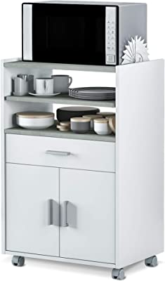 Abitti Mueble de Cocina Auxiliar para microondas en Color ...