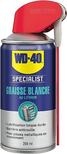 WD-40 Specialist • Graisse Blanche Au Lithium • Spray Double Position • Formule Blanche et épaisse • Résiste à l'Eau ...
