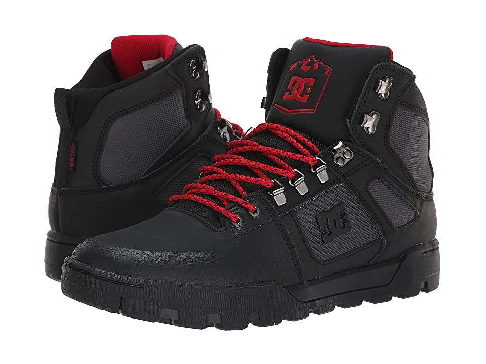 DC Pure High-Top WR Boot (Black/Grey/Red) Men