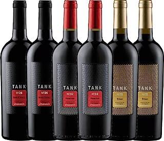 6er Kennenlernpaket - TANK Weine von Cantine Minini   italienischer Rotwein   Wein aus Sizilien   6 x 0,75 Liter