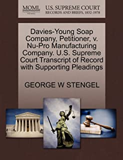 Davies-Young Soap Company, Petitioner, v. Nu-Pro Manufacturing Company. U.S. Supreme Court Transcript of Record with Suppo...