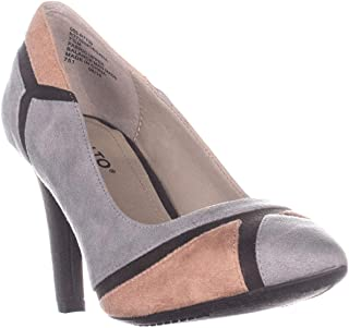 Rialto Morgana Pointed Toe Colorblock Classic Heels, Ash/Multi