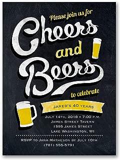 500pk Cheers and Beers - Invitation-Birthday Invitations