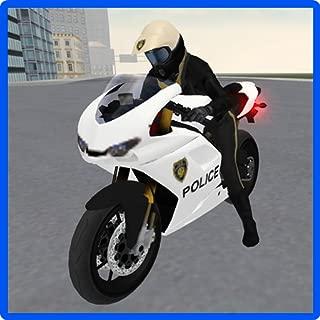 police moto racing game