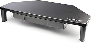 """StarTech.com Soporte Elevador de Monitor para Estación de Trabajo de Esquina - Para Monitores de Hasta 32"""" - Altura Ajustable - Soporte de Monitor de Esquina (MONSTNDCORNR)"""