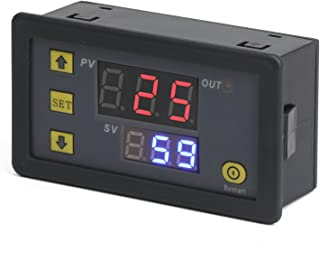 DROK DC 12V Digital Timer Relay Board, Automotive 1500W Relay Module with Dual Time Display, Timing Relay Switch, Support Cycle of time, Time Delay for Car, Vehicle