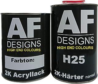 Alex Flittner Designs 0,5 Liter 2K Acryl Lack Autolack Set für Mercedes Benz ATLANTISBLAU 5373