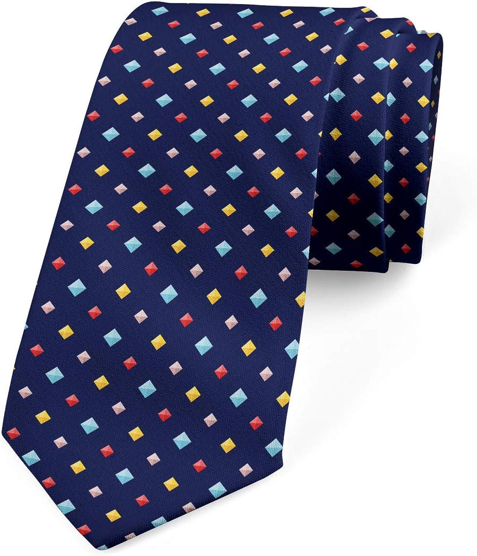 Ambesonne Necktie, Colorful Gemstones, Dress Tie, 3.7