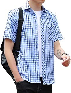 チェックシャツ メンズ 長袖 半袖 ウィンドウペーン ギンガム カジュアル 秋 夏 大きいサイズ 15色