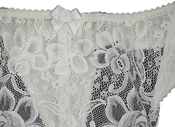"Silhouette Lingerie /'Paysanne collection /""Motif Fleuri Noir Dentelle String Style Knick..."