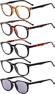 Eyekepper Le paquet de 5 Charnière à ressort Les lunettes de lecture contiennent Lecteur de soleil +2.00