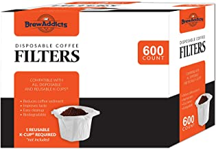 Brew Addicts Disposable Coffee Paper Filters for Keurig Single Serve Filter | Pack of 600