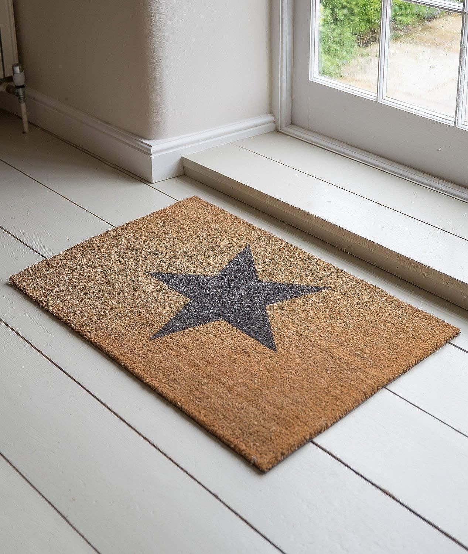 (1, Orignal Packaging) - Garden Trading Star Doormat, Large-Coir, Brown, 90_x_60_cm