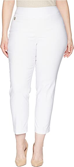 """Lisette L Montreal Plus Size Solid Magical Lycra Ankle Pants """"Curvy Collection"""""""