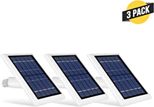Wasserstein Solar Panel Compatible with Spotlight Cam Battery & Stick Up Cam Battery (3 Pack, White)